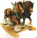 fee plans woodworking resource from WoodworkersWorkshop Online Store - Clydsdale rocking horses,wooden,furniture,childrens,childs rockers,ponies,ponys,full-sized,templates,patterns,woodworking,plans,projects
