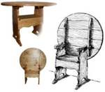 Colonial Chair Table Combo Woodworking Plan