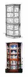 28-151613 - Heavy Duty Glass Curio Cabinet Woodworking Plan