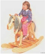 28-152035 - Old Grey Mare Childrens Rocking Horse Woodworking Plan
