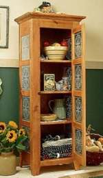 fee plans woodworking resource from WoodworkersWorkshop Online Store - pie safe,cabinet,pie cabinet,storage,kitchens,punched tin,tin,fee woodworking plans,projects,patterns,blueprints,build,construction,how to,diy,do-it-yourself
