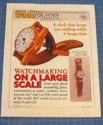 fee plans woodworking resource from WoodworkersWorkshop Online Store - watch,clock,wall hung,wall mounted,time piece,office,wooden,fee woodworking plans,projects,patterns,blueprints,build,construction,how to,diy,do-it-yourself