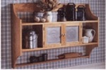 Punched Tin Wall Cabinet Woodworking Plan.