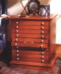 fee plans woodworking resource from WoodworkersWorkshop Online Store - cabinets,collectors,collections,storage,wooden,10 drawer,end table,furniture,fee woodworking plans,projects,patterns,blueprints,build,construction,how to,diy,do-it-yourself