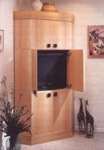 Corner Entertainment Center Woodworking Plan.
