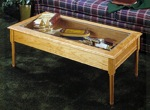 31-MD-00017 - Glass Topped Coffee Table Woodworking Plan