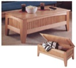 Futon Coffee Table Woodworking Plan, coffee table,futon,lift top,mission,furniture,fee woodworking plans,projects,patterns,blueprints,build,construction,how to,diy,do-it-yourself