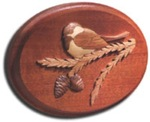 31-MD-00029 - Chickadee Intarsia Plaque Woodworking Plan