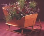 Vintage Tabletop Sleigh Woodworking Plan