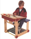 Activity Center Desk Woodworking Plan.