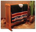 Arts and Crafts Quilt Rack Woodworking Plan.