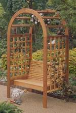 fee plans woodworking resource from WoodworkersWorkshop Online Store - arbors,arbours,gardens,outdoors,benches,seating,cedar,fee woodworking plans,projects,patterns,blueprints,build,construction,how to,diy,do-it-yourself