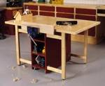 Drop Leaf Mobile Workbench Woodworking Plan