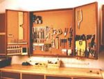 fee plans woodworking resource from WoodworkersWorkshop Online Store - dp-00079,cabinets,tools,workshops,wall mounted,pegboard,double door,single door,fee woodworking plans,projects,patterns,blueprints,build,construction,how to,diy,do-it-yourself