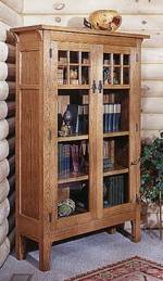 fee plans woodworking resource from WoodworkersWorkshop Online Store - dp-00080,bookcase,arts and crafts,craftsman,glass,oak, fee woodworking plans,projects,patterns,blueprints,build,construction,how to,diy,do-it-yourself