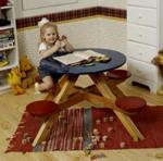 fee plans woodworking resource from WoodworkersWorkshop Online Store - childrens,childs picnic table,playroom,furniture patterns,woodworking plans,woodworkers projects,blueprints