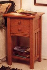 Bedside Companion Woodworking Plan, dp-00090,nightstand,table,mission,bedrooms,furniture,fee woodworking plans,projects,patterns,blueprints,build,construction,how to,diy,do-it-yourself