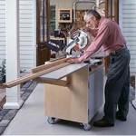 Mobile Mitersaw Center Woodworking Plan.
