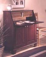 Drop Front Writing Desk Woodworking Plan.