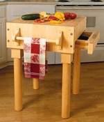 Kitchen Work Center Woodworking Plan.