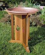 fee plans woodworking resource from WoodworkersWorkshop Online Store - dp-00116,birdbath,bird bath,wooden,apple,outdoors,fee woodworking plans,projects,patterns,blueprints,build,construction,how to,diy,do-it-yourself