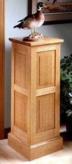 fee plans woodworking resource from WoodworkersWorkshop Online Store - dp-00128,pedestal,oak,displays,art,plant stand,wooden,fee woodworking plans,projects,patterns,blueprints,build,construction,how to,diy,do-it-yourself