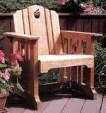 Patio Chair Woodworking Plan, dp-00130,chair,patio chair,outdoors,apple,deck,furniture,wooden,cedar,fee woodworking plans,projects,patterns,blueprints,build,construction,how to,diy,do-it-yourself