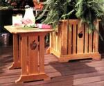 Patio Table and Planter Woodworking Plan