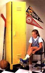 Kids Sports Locker Woodworking Plan.