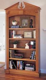 Federal Bookcase Woodworking Plan.
