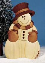 31-MD-00154 - Intarsia Snowman Woodworking Plan