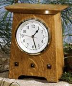 Arts and Crafts Clock Woodworking Plan.