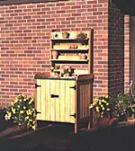 fee plans woodworking resource from WoodworkersWorkshop Online Store - dp-00164,potting bench,potting table,outdoors,furniture,gardening,gardens,storage,fee woodworking plans,projects,patterns,blueprints,build,construction,how to,diy,do-it-yourself