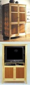 fee plans woodworking resource from WoodworkersWorkshop Online Store - dp-00171,armoire,tv,entertainment center,television,cabinet,fee woodworking plans,projects,patterns,blueprints,build,construction,how to,diy,do-it-yourself