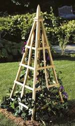 Flower Tower Tuteur Woodworking Plan