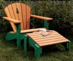 Adirondack Chair and Footrest Woodworking Plan.