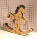 Giddyap Rocking Horse Downloadable Woodworking Plan PDF, md-00202,toys,childrens,downloadable PDF,patterns,rocking horses,childs,kids,miniature,small,decorative,woodworking plans,woodworkers projects,blueprints,WOODmagazine,WOODStore