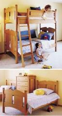 Kids Oak Bunk Beds Woodworking Plan.