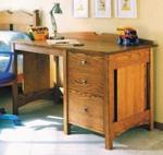Kids Oak Desk Woodworking Plan.