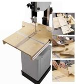 fee plans woodworking resource from WoodworkersWorkshop Online Store - bandsaw,band saw,jigs,downloadable PDF,patterns,tapering,duplicating,featherboard,feather board,woodworking plans,woodworkers projects,blueprints,WOODmagazine,WOODStore