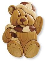 31-MD-00248 - Intarsia Teddy Woodworking Plan