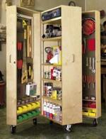 Mobile Tool Cabinet Woodworking Plan.