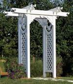 Trellised Arbor Woodworking Plan.