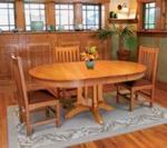 fee plans woodworking resource from WoodworkersWorkshop Online Store - dp-00274,round table,round dining room table,leaves,oval,furniture,expandable,fee woodworking plans,projects,patterns,blueprints,build,construction,how to,diy,do-it-yourself