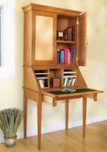 fee plans woodworking resource from WoodworkersWorkshop Online Store - dp-00277,desks,slant front,secretary desk,furniture,office,storage,fee woodworking plans,projects,patterns,blueprints,build,construction,how to,diy,do-it-yourself