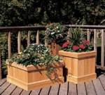 Trio of Cedar Planters Woodworking Plan