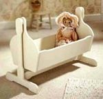 Pendulum Doll Cradle Woodworking Plan.