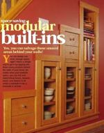 Modular Built Ins Downloadable Woodworking Plan PDF, modular,builtins,built ins,downloadable PDF,patterns,storage,cabinets,under the stairs,space saving,woodworking plans,woodworkers projects,blueprints,WOODmagazine,WOODStore