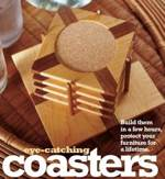 fee plans woodworking resource from WoodworkersWorkshop Online Store - coaster set,coasters,downloadable PDF,patterns,wooden,woodworking plans,woodworkers projects,blueprints,WOODmagazine,WOODStore