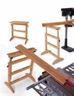 fee plans woodworking resource from WoodworkersWorkshop Online Store - outfeed,work support,platform,downloadable PDF,patterns,outfeed table,out feed,wooden,workshop,woodworking plans,woodworkers projects,blueprints,WOODmagazine,WOODStore